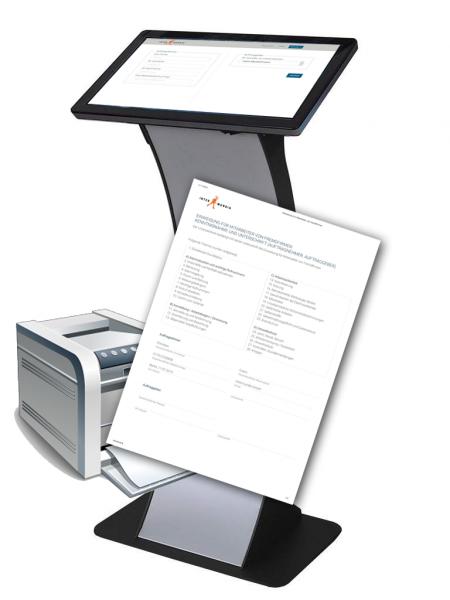 Kiosk Einweisung für Fremdmitarbeiter (Sicherheitseinweisung, Besucherregistrierung)